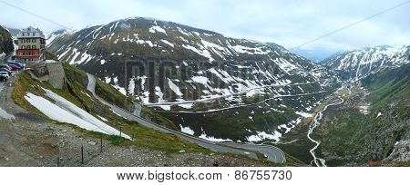 Summer Mountain Landscape (furka Pass, Switzerland)
