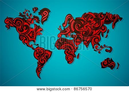 World Map Ornamental