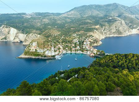 Summer View Of Assos Peninsula (greece,  Kefalonia).
