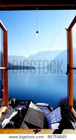 Hallstatt Lake View From Window