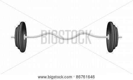 Barbell in silver and black design