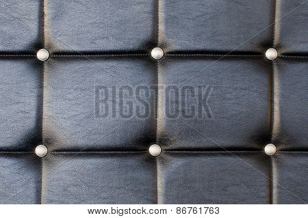 Black Upholstery Pattern With Diamonds