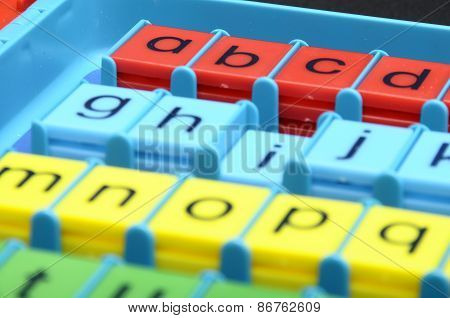 Colored plastic letters