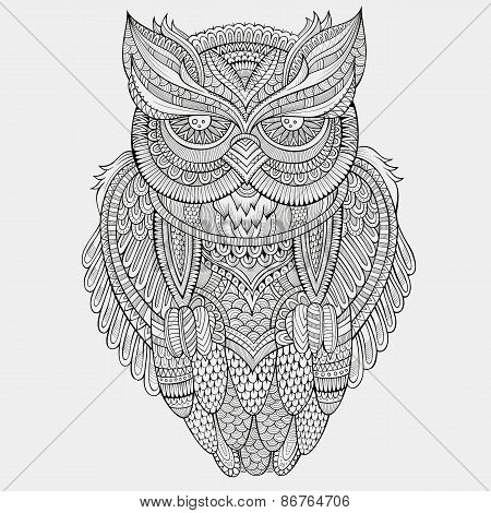 Decorative ornamental Owl