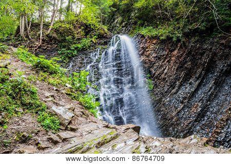Carpathian Mountain Waterfall