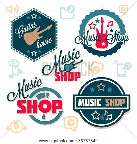 music logo set