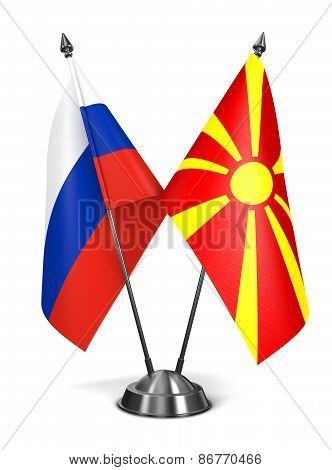 Russia and Macedonia - Miniature Flags.