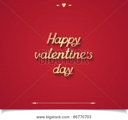 Happy valentine's day 3D lettering