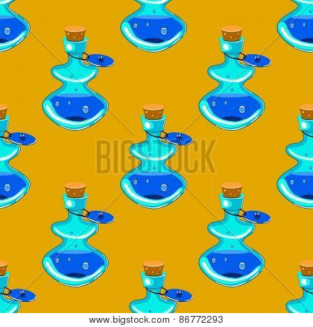 flask with elixir seamless pattern