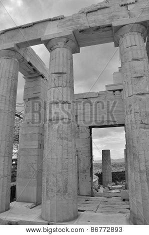 Columns at Temple