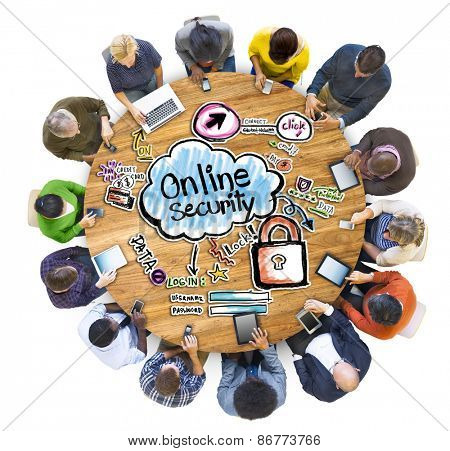 Group of People Discussing about Online Security