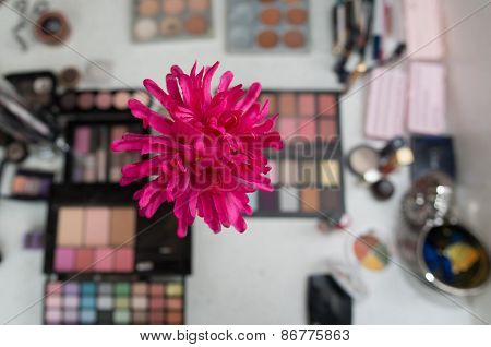 Makeup Accessories With Flower