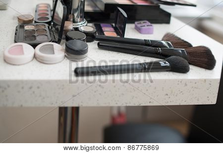 Makeup Accessories On The Table