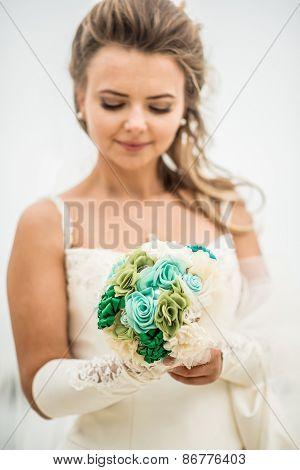 Wedding Bouquet In Hands
