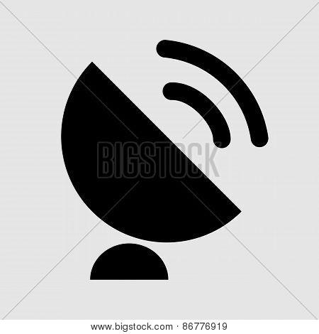 Black Satellite Symbol