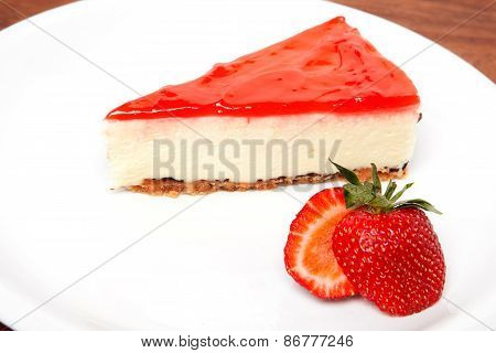 Strawberry Cheesecake And Fresh Berries
