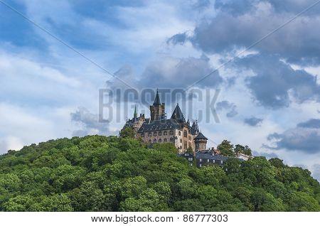 Wernigerode castle in Germany.