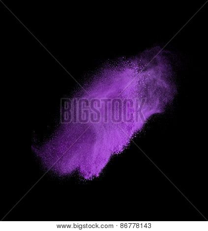 colorful powder splash isolated on black