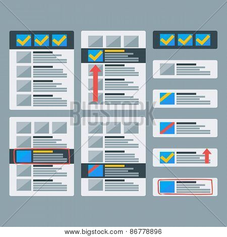 Paper Advertising Objects Set