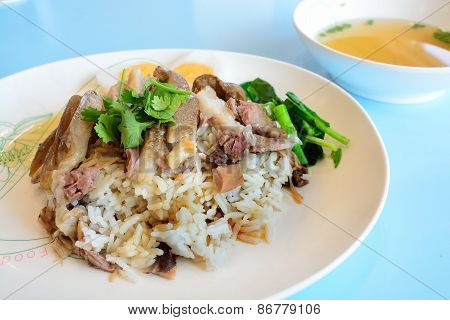 Thai Stewed Pork Leg With Rice (kao Kha Moo)
