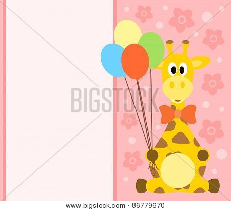 Background Card With Giraffe
