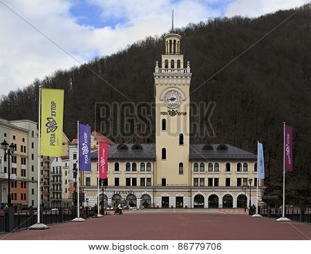 City Hall in the Rosa Khutor Alpine Resort