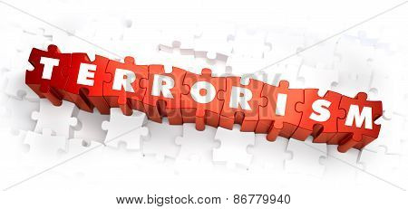 Terrorism - Word on Red Puzzles.