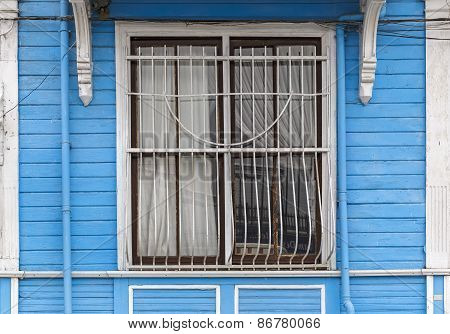Old Wooden House Wall Paneling And Window
