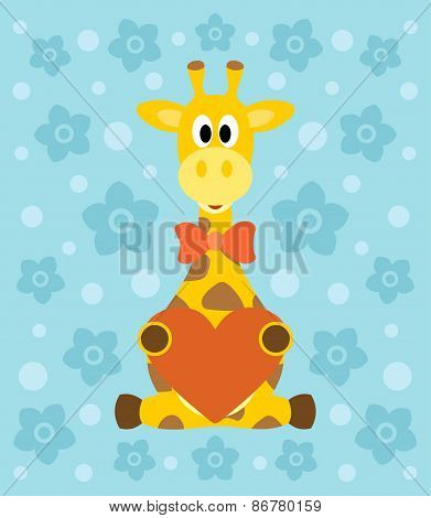 Background with giraffe cartoon