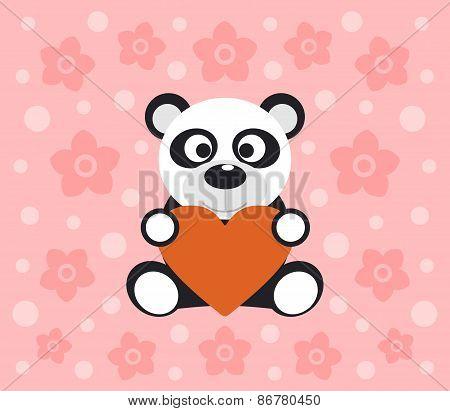 Background With Panda Cartoon