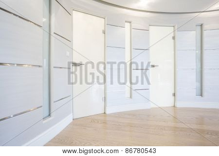 Glass Door Inside Spacious Hall