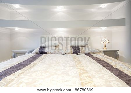 Elegant Bed Inside Expensive Bedroom