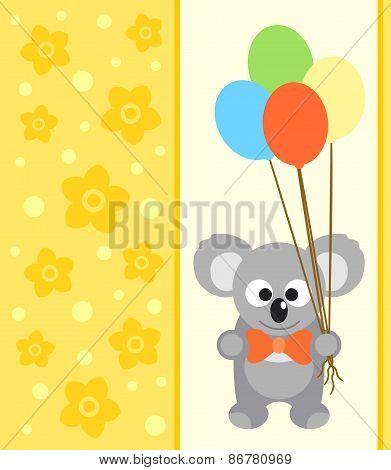 Background card with koala