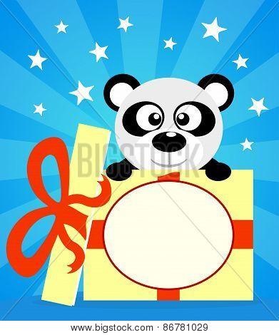 Holiday Card With Panda
