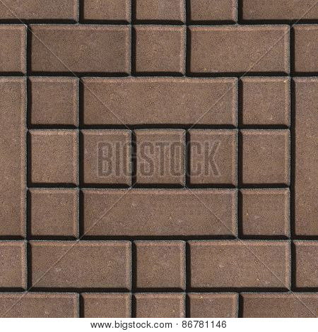 Brown Figured Paving Slabs - Rectangles and Squares.