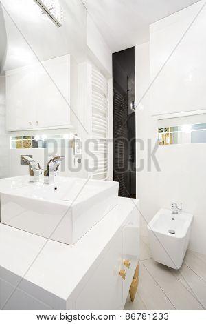 Interior Of White Bathroom