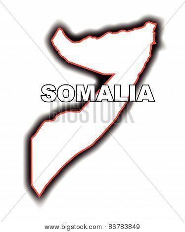Outline Map Of Somalia