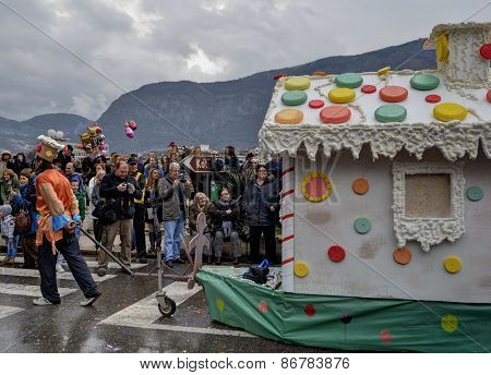 Gingerbread house in carnival.