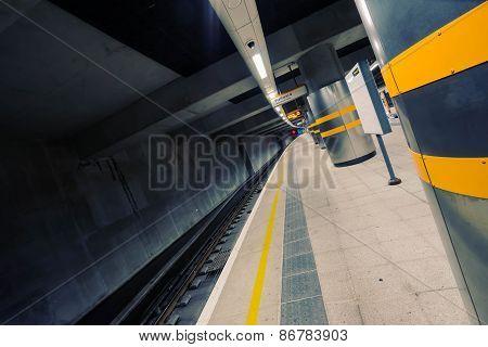 London tube taken in London in winter 2014.