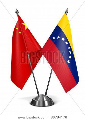 China and Venezuela - Miniature Flags.