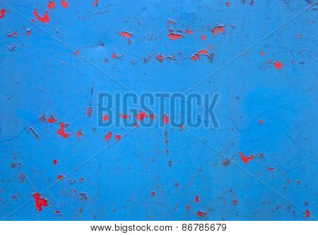 Photograph Of Peeling Paint And Rust On Metal Background