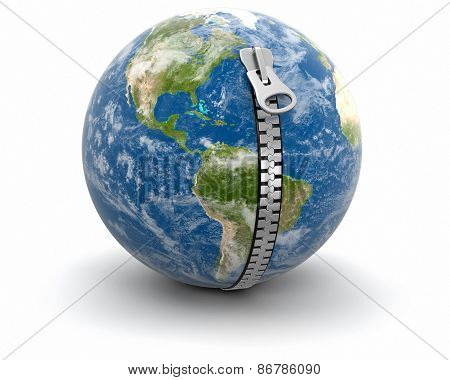 Zip and Globe (clipping path included)