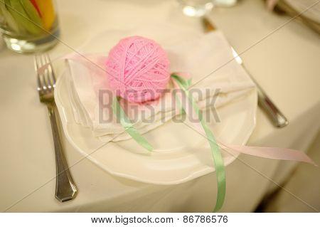 Banquet birthday table setting