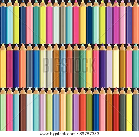 Colorful crayons.