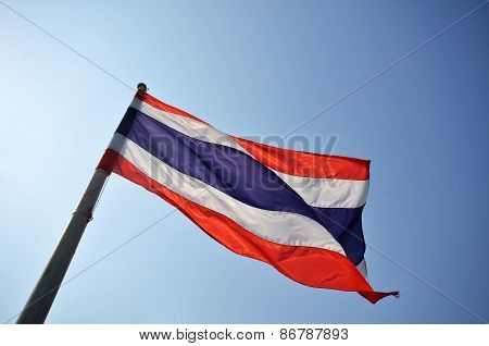 Flag Of Thailand.