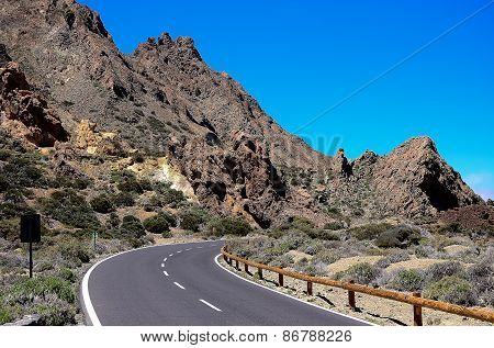 Highway on the island of Tenerife