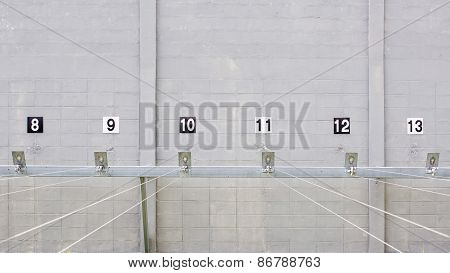 Rifle Targets In A Shooting Gallery