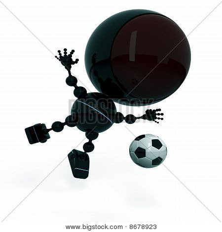 Robot Plays Football