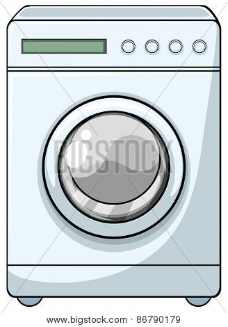Close up washing machine with front door