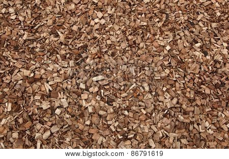 Wood chips safe playground ground cover